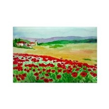 Poppies Italy Rectangle Magnet