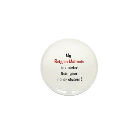 My Belgian Malinois is smarter... Mini Button