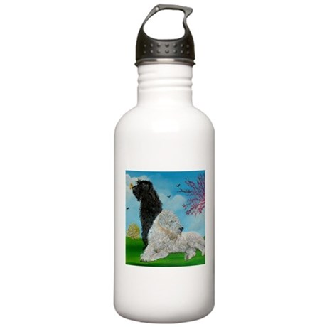 Labradoodle Spring Stainless Water Bottle 1.0L