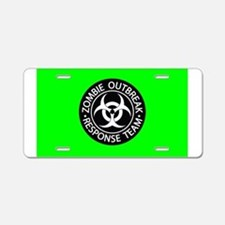 Hot Green Zombies Aluminum License Plate
