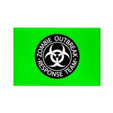 Hot Green Zombies Rectangle Magnet (100 pack)