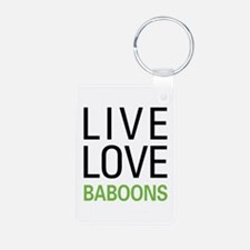 Live Love Baboons Keychains