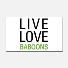 Live Love Baboons Car Magnet 20 x 12