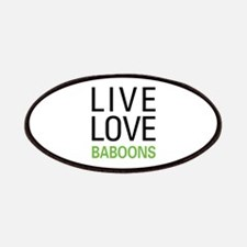 Live Love Baboons Patches