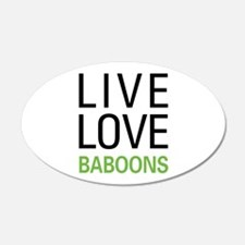 Live Love Baboons Wall Decal