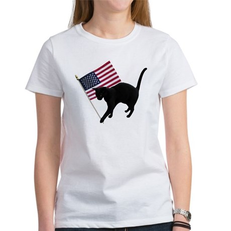 Cat American Flag T-Shirt