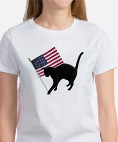 Cat American Flag T-Shirt