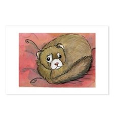 Cute Ferret art Postcards (Package of 8)