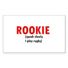 Rookie...Rectangle Decal