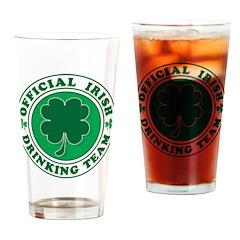 Official Irish Drinking Team Drinking Glass