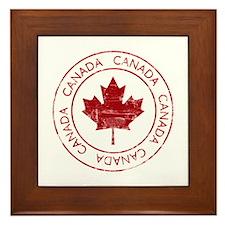 Vintage Canada Framed Tile