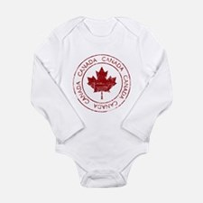 Vintage Canada Long Sleeve Infant Bodysuit