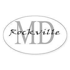 Rockville thru MD Oval Decal