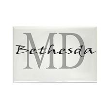 Bethesda thru MD Rectangle Magnet