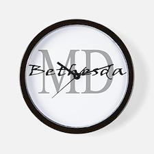 Bethesda thru MD Wall Clock