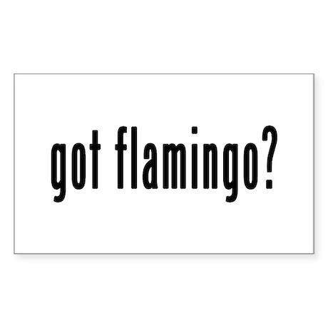 GOT FLAMINGO Sticker (Rectangle)