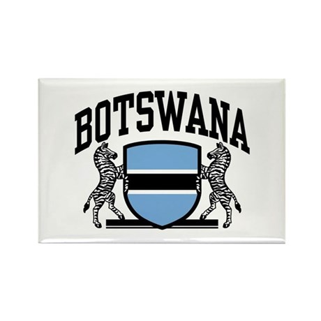 Botswana Rectangle Magnet
