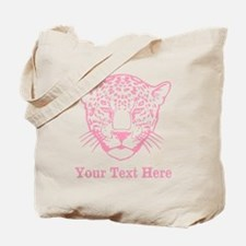 Pink Leopard and Writing. Tote Bag