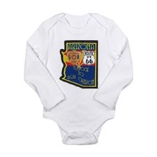 AZ HP Route 66 Long Sleeve Infant Bodysuit