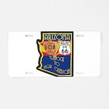 AZ HP Route 66 Aluminum License Plate