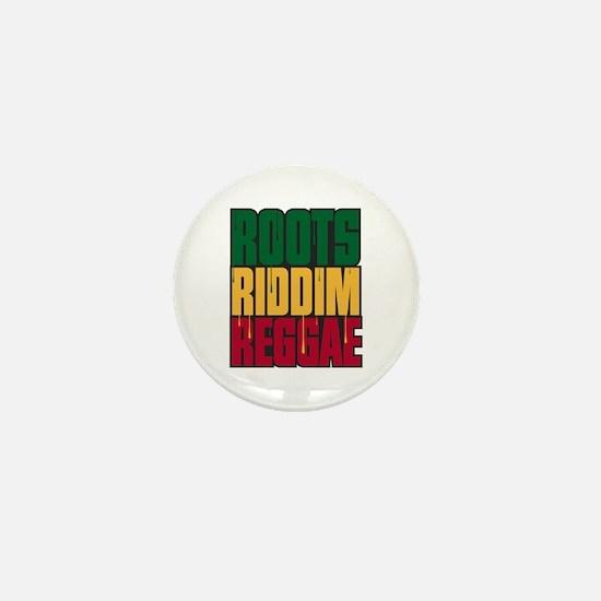 Roots Riddim Reggae Mini Button