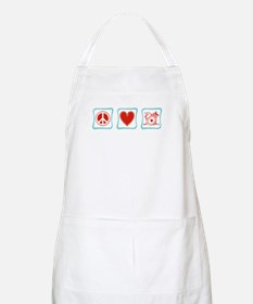 Peace, Love and Drums Apron