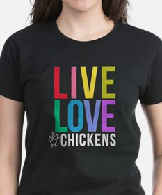 bright: live love chickens Tee