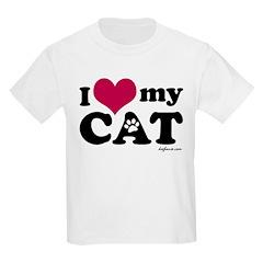 I Love My Cat Kids T-Shirt