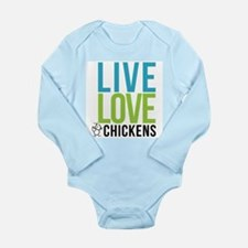 clean: live love chickens Long Sleeve Infant Bodys