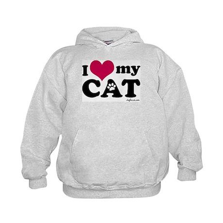I Love My Cat Kids Hoodie