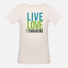 clean: live love chickens Tee