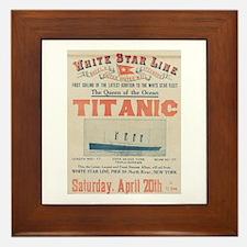 Titanic Advertising Card Framed Tile