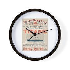 Titanic Advertising Card Wall Clock