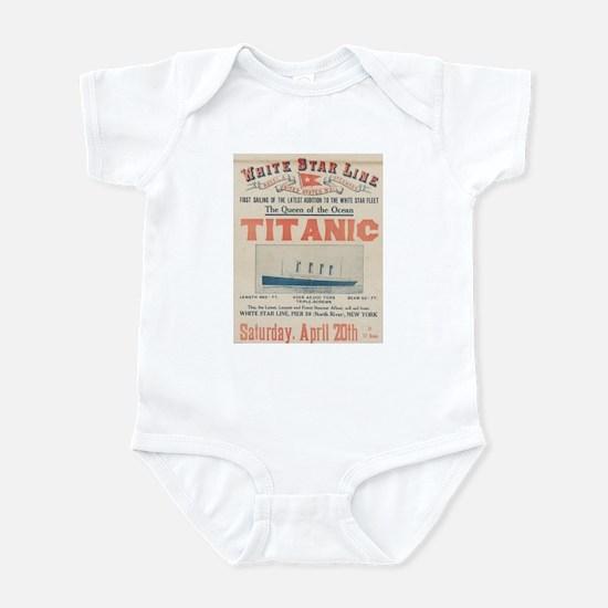 Titanic Advertising Card Infant Bodysuit
