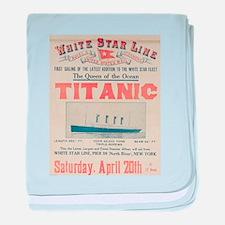 Titanic Advertising Card baby blanket