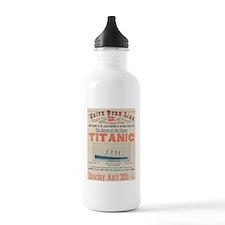 Titanic Advertising Card Water Bottle