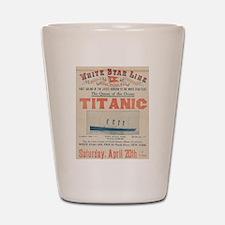 Titanic Advertising Card Shot Glass