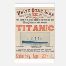 Titanic Advertising Card Postcards (Package of 8)