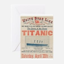 Titanic Advertising Card Greeting Card