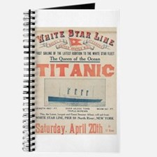 Titanic Advertising Card Journal