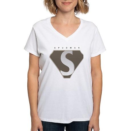Proud To Be A Spudman Women's V-Neck T-Shirt