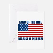 Because of the Brave Greeting Cards (Pk of 20)