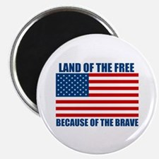 """Because of the Brave 2.25"""" Magnet (100 pack)"""