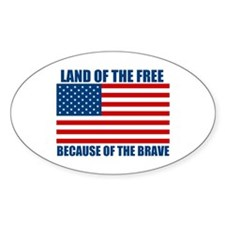 Because of the Brave Decal