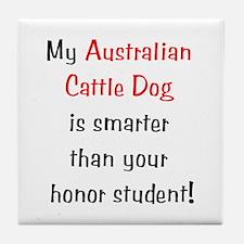 My Australian Cattle Dog is smarter... Tile Coaste