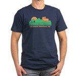 Adirondack Mountains NY Men's Fitted T-Shirt (dark