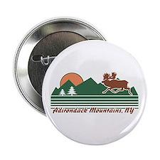 """Adirondack Mountains NY 2.25"""" Button"""