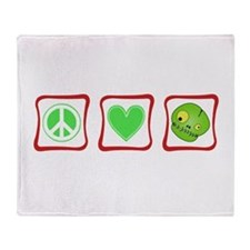 Peace, Love and Zombies Throw Blanket