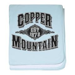 Copper Mountain Silver Black baby blanket