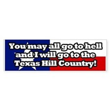 Texas Hill Country Bumper Sticker